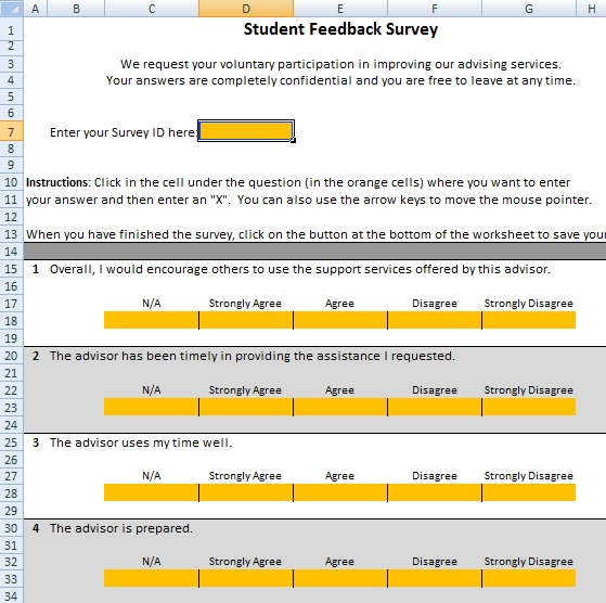 Student Survey System - Good Advice